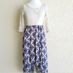 Free People Women dress size 2 NWT $168 floral lac